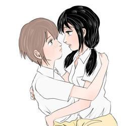 Yuri and Mako by Kensosha