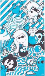 .Second Star Doodle Blue. by Kurashi