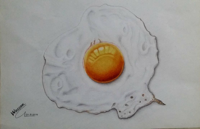Fried egg by WessamADEN