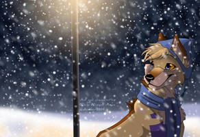 Night Snow by WhiteWingedAnwe