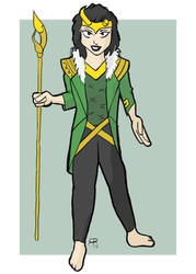 Loki-Agent of Asgard by hallopino