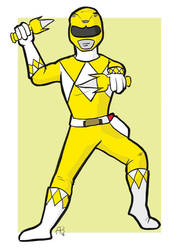 Yellow Ranger by hallopino