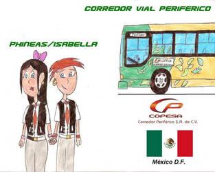 Phineas and Isabella New Bus by KimiBarHonda