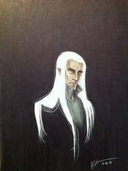 Daily Doodle April 24= Day 114: Thranduil by silvertales