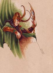 5-27-Loki by silvertales