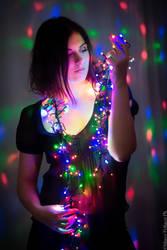 Christmas lights by ChildsHeart