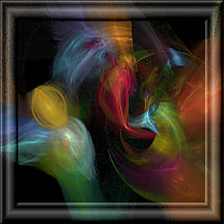 Colors In 3d Glass Frame by whoami911