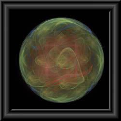 Green Globe In 3d Glass Frame by whoami911