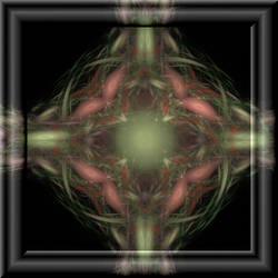 Fractal Cross In 3d Glass Frame by whoami911
