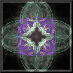 Fractal Flower In 3d Glass Frame by whoami911