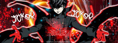 Persona 5 Joker Portada Facebook by ReinaAnimeEdition