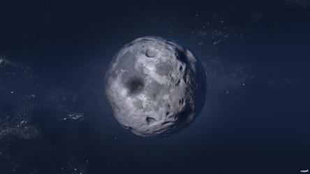 Blue Night Moon by Waysh