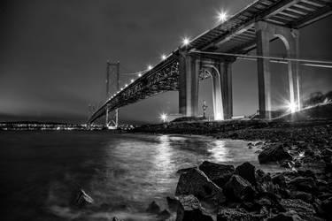 Forth Bridge Study Monochrome by BusterBrownBB