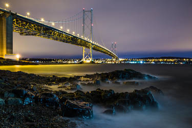 Night time on the Firth of Forth by BusterBrownBB