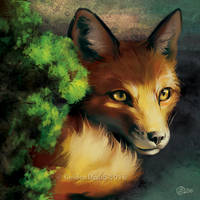 Fox Brush - SpeedPaint by GoldenDruid