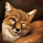 Fox Wink - SpeedPaint by GoldenDruid