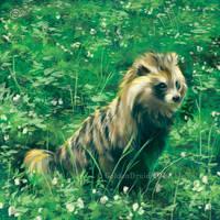 Tanuki - SpeedPaint by GoldenDruid