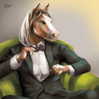 The Gentleman - SpeedPaint by GoldenDruid