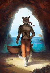Odin's Sea Cave - SpeedPaint by GoldenDruid