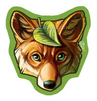 Fox Sticker by GoldenDruid
