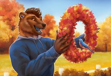 Festively Fall - SpeedPaint by GoldenDruid