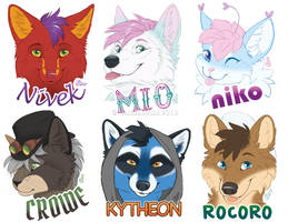 Fall 2018 Flat Color Badges by GoldenDruid