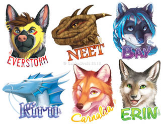 Fall 2018 Polished Portrait Badges by GoldenDruid