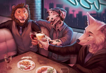 To Friends - Art-By-The-Hour by GoldenDruid