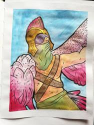 Bird Man Idea by Bronwyn-Tudor