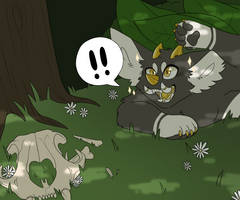 That's a big cat! by strayedred