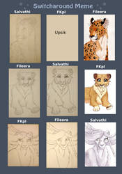 Switcharound meme with Salvathi and FKpl by Fileera