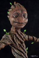 [Garage kit painting #14] Baby Groot statue - 011 by DasArt
