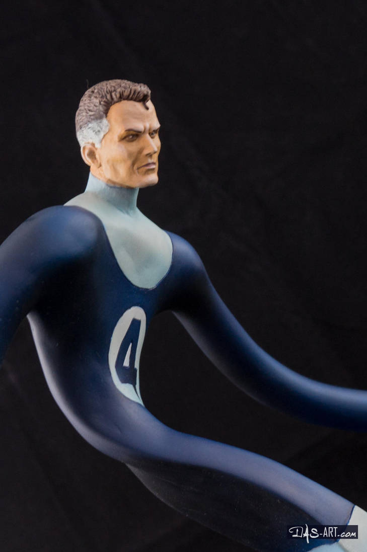 [Garage kit painting #17] Mr. Fantastic bust - 015 by DasArt