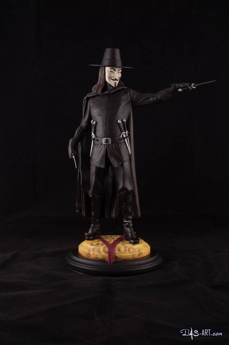 [GK painting #18] V for Vendetta statue - 001 by DasArt