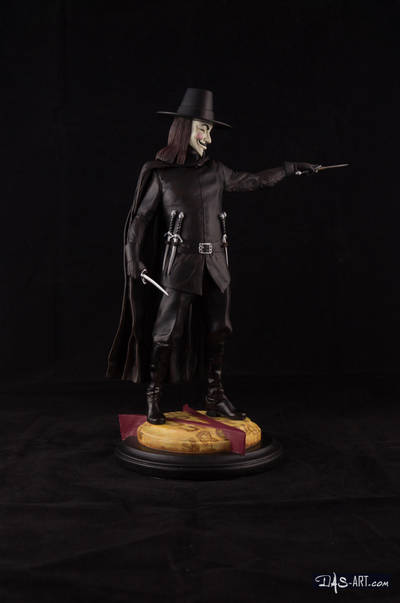 [GK painting #18] V for Vendetta statue - 008 by DasArt