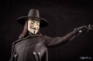 [GK painting #18] V for Vendetta statue - 014 by DasArt
