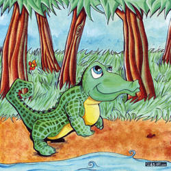 Un crocodile aux dents poilues - p.001 by DasArt
