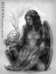 Athena - Goddess of Wisdom by LinzArcher