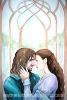 Aragorn and Arwen by LinzArcher