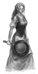 Tika Illustration: DragonLance by LinzArcher
