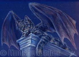 Fiendish Feline by LinzArcher