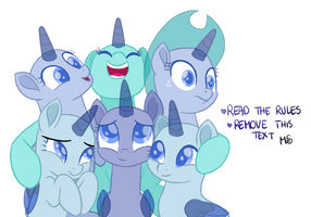 Mlp Base - Group Hug! by MelodySweetheart