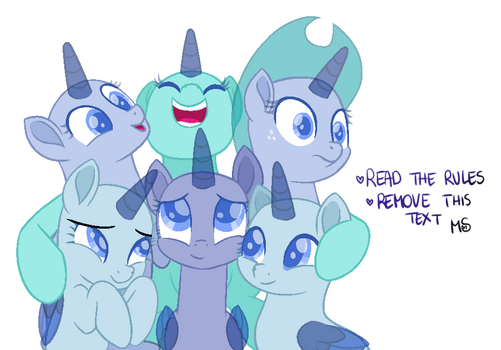 Mlp Base - Group Hug! by MelodySweetheart