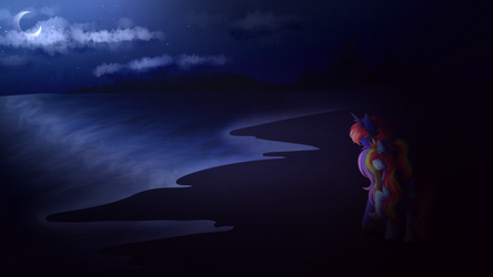 Commission | Moonlight by MelodySweetheart