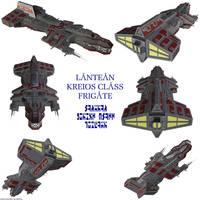 Lantean Kreios Frigate by Chiletrek