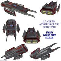 Lantean Atropos Corvette by Chiletrek