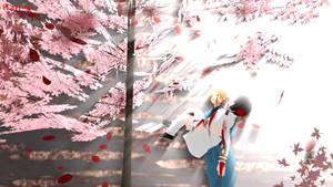 MMD HetaOni Wallpaper - Cherry Trees by Pianodream