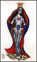 Santa Muerte tatto desing by medusainfurs