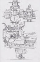 Kanmusu Scribble: Lorraine by Redundant-Cat