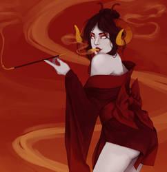 Damara Megido is smokinn by PandaleonSaa